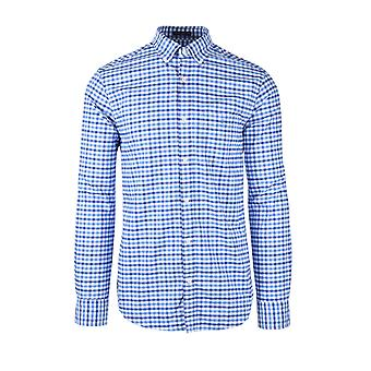 Gant The Oxford 2 Col Gingham Shirt Pacific Blue