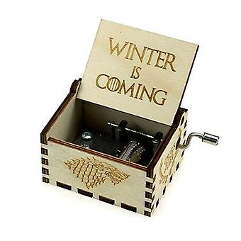 Games Of Thrones Collectibles Wooden 18 Tones Music Box For Christmas Present,