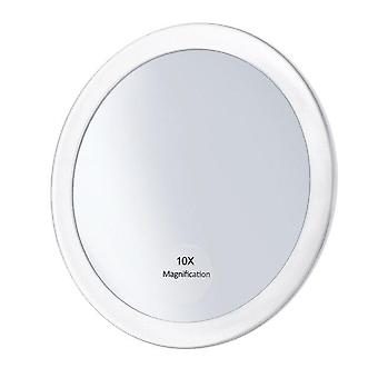 10x Magnifying Makeup Mirror With 3 Suction Cups Make Up Pocket Cosmetic Mirror Magnification Compact Mirror