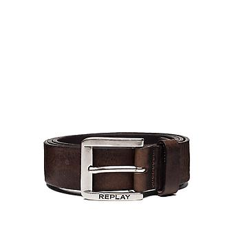 Replay Men's Used Effect Belt Leather