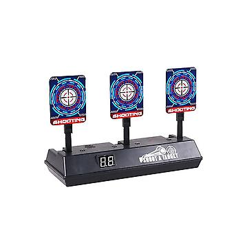 Children Running Shooting Targets With Net Frame Electronic Scoring Auto Reset Digital Targets For Guns Game Toys