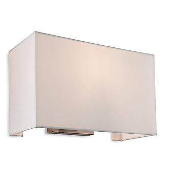 Firstlight Fargo - 1 Light Single Indoor Wall Light Brushed Steel, Cream Shade, E27