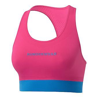 Runderwear Dames Dames Running Crop Top Sports Bra Pink/Blue