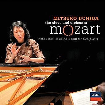 Mitsuko Uchida - Mozart: Piano Concertos Nos. 23, K488 & 24, K491 [CD] USA import