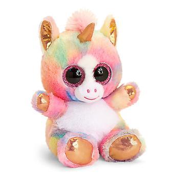 Keel Toys Animotsu Rainbow Rose Gold Licorne