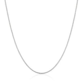 "Sterling Silver Thin 0.6mm Box Chain Necklace, 24"", Silver, Size 24 Inches"