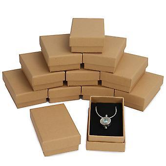 Kraft Boxes - 24 Pack | Pukkr (Necklace Size)