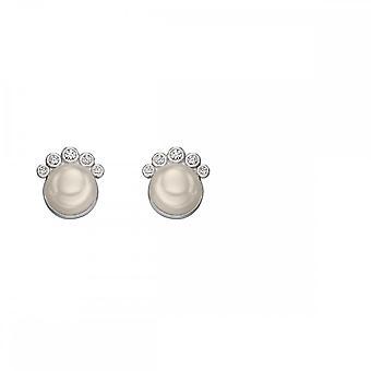 Elementos Silver Pearl e Brincos Zirconia Stud E5678W