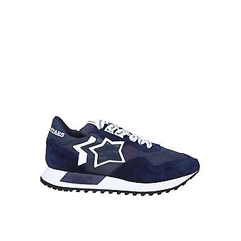Atlantic Stars Dracobbnbdr04 Männer's Blaue Leder Sneakers