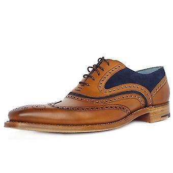 باركر ماكلين الرجال & أبوس؛ق الذكية Wingtip Brogue الأحذية في الأرز / الأزرق
