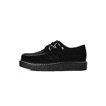 TUK Shoes 1970 Creeper Black Suede With Contrast Stitching