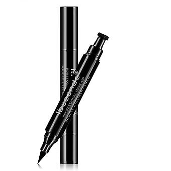 Black Eyeliner Liquid Pencil - Quick Dry, Waterproof, Double Ended Makeup