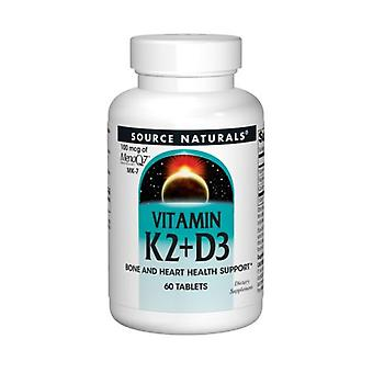מקור טבעי ויטמין K2, 30 טבליות