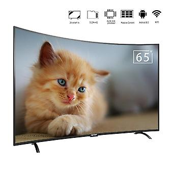 Free Shipping-android Curbat Screen Television 1.5g+8GB 65 Inch 4k Hd Led Tv Smart Cu Wifi