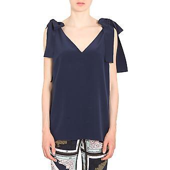 Tory Burch 51823405 Women's Blue Silk Top