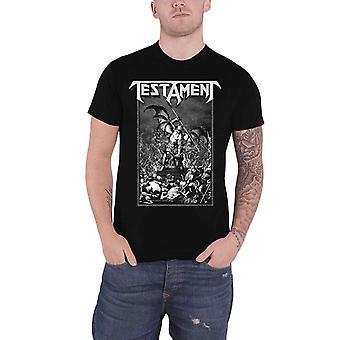 Testament T Shirt Pitchfork Horns Band Logo new Official Mens Black