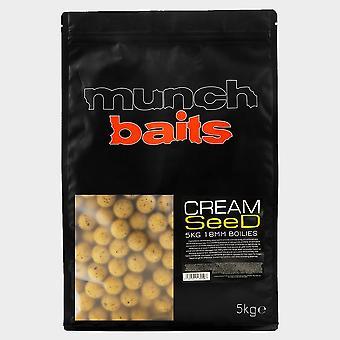 New Munch Cream Seed 18mm Boilies 5k shelf life Yellow