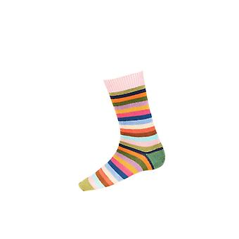 Casa de Cheviot Gents Calcetines cortos Stripy - Rosewater