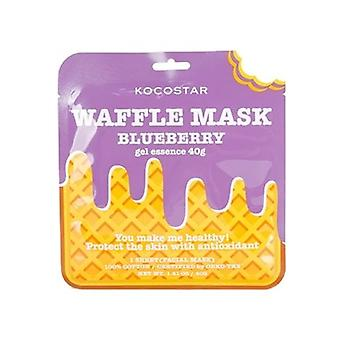 Kocostar Blueberry Waffle Sheet Mask (combination Skin)