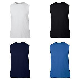גילדן Mens ביצועים ללא שרוולים חולצות/אפוד