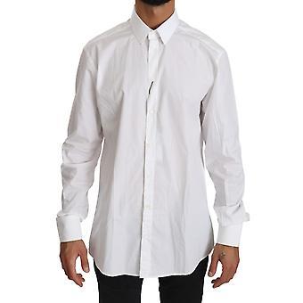 Dolce & Gabbana valkoinen pitkähihainen mekko muodollinen top shirt