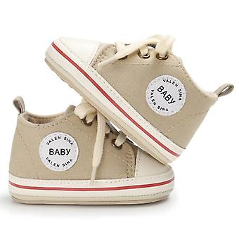 Newborn Baby Shoes-canvas Lace-up Sneakers