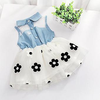 Robes de bébé de fille, impression de modèle, citron, dessin animé, femelle d'anniversaire, gosses d'été