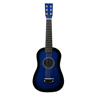 Mini 23 Inch Basswood, 12 Frets 6 String Acoustic Guitar With Pick And Strings
