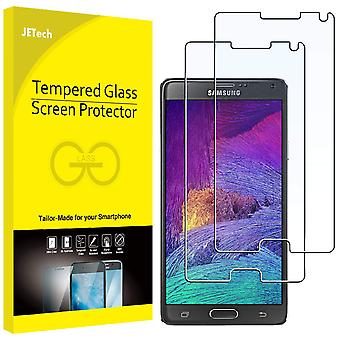 Jetech 0860a screen protector for samsung galaxy note 4, tempered glass film, 2-pack