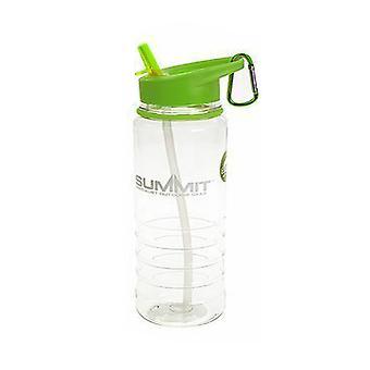 Summit 700ml vandflaske med foldet halm - 1 enhed grøn flaske