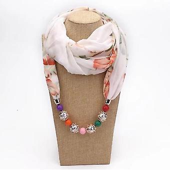 Collana di gioielli decorativi multi-stile, sciarpe hijab pendente perline di perline di resina