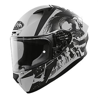 Airoh Valor Full Face Motorcycle Helmet Akuna Matt Grey Black ACU Gold Approved