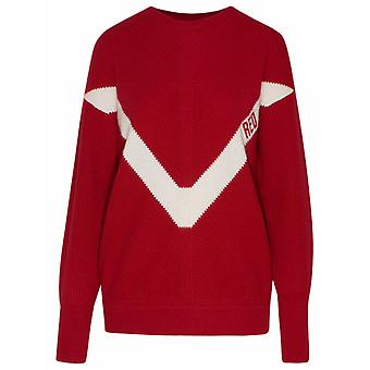 Red Valentino Vr3kc06d5nfle0 Women's Red Wool Sweater