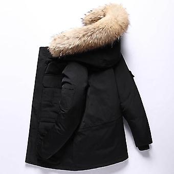 -30 Degree Winter Down Jacket, 90% White Duck Down Parkas Thicken Snow Overcoat