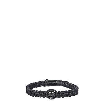 Northskull Stmagm2217blk Men's Black Fabric Bracelet