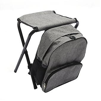 Grau Oxford Tuch Stahl Rohr Multifunktions abnehmbare Rucksack Klappstuhl