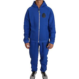 Pantaloni pulover din bumbac albastru trac70170199