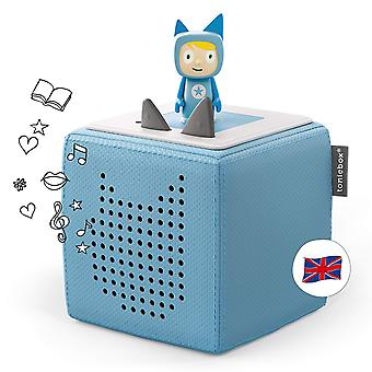 Toniebox starter set blue incl 1 creative tonie - audio player / music player and speaker for audiob