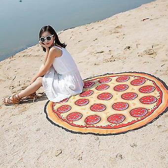 Pizza Beach Towel Yoga Mat Blanket