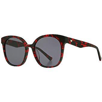 Whistles Premium Chunky Sunglasses - Red Tortoise Shell