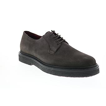 Geox U Broderik Mens Gray Suede Oxfords & Lace Ups Plain Toe Shoes