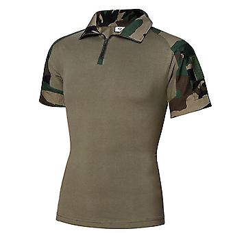Short Sleeve Polo Shirt & Desert Camouflage Tactical Military Uniform Absorb