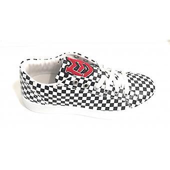 Men's / Women's Moschino Love Sneaker White Black Chek S15mo01