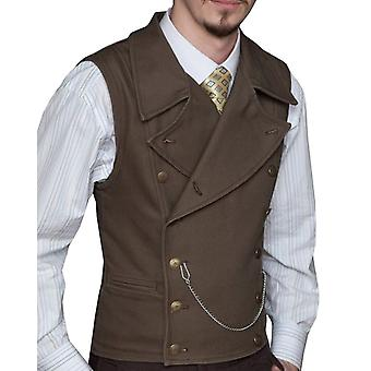 Casual Formal Double-breasted Vest For Wedding
