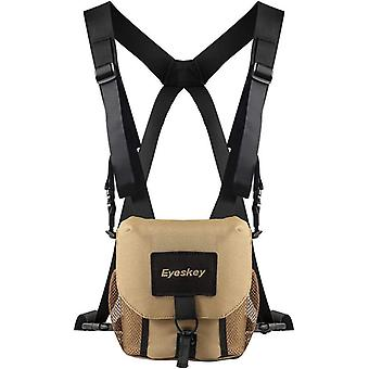 Eyeskey universal binocular bag/case with harness durable portable binoculars camera chest pack bag for hiking hunting
