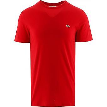 Lacoste Punainen Lyhythihainen Crew Neck T-paita