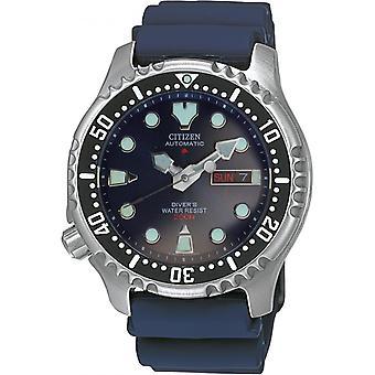 Montre Homme  CITIZEN MONTRES  NY0040-17LE - Bracelet Silicone Bleu