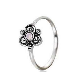 316l Stainless Steel Pink Ornate Flower Nose Hoop / Cartilage Earring