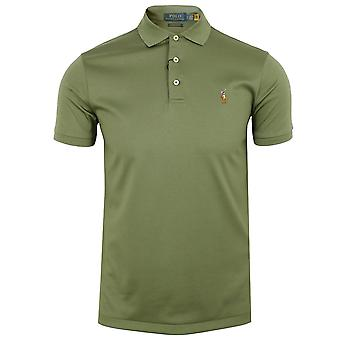 Ralph lauren men's olive pima polo shirt