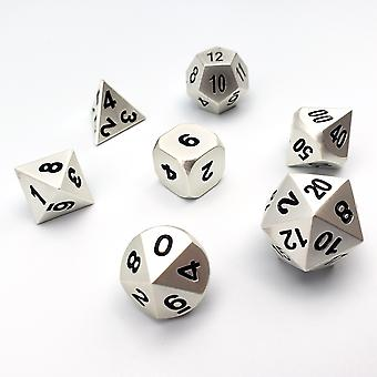 Metallic Pearl - 7 Piece Metal Dice Set